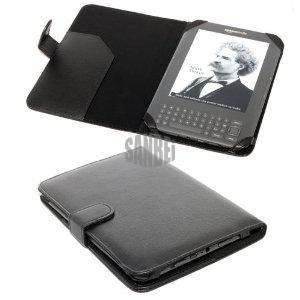 Kindle Keyboard 3g Wallet Leather Case - Black, Mobile Phone